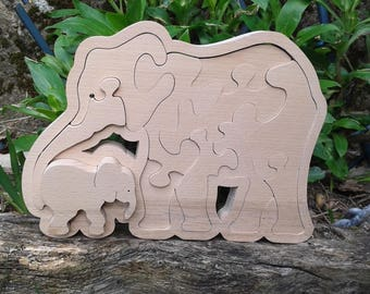 hand-made and local wooden puzzle