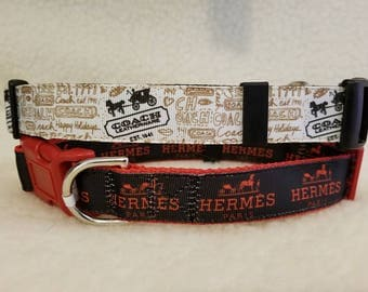 Designer Inspired Handmade Dog Collar 1 Inch Wide Large Only 1 Each