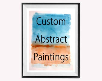 Custom Abstract painting Original abstract Watercolor Painting