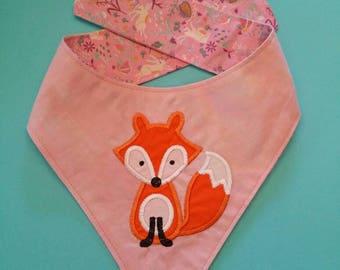 Fox / Dog Bandana / Designer Dog Bandana / Dog Neckchief / Designer Dog Neckchief / Applique Dog Bandana / Dog Accessories