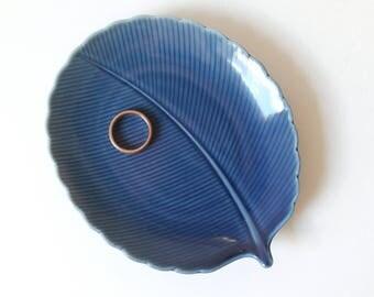 Vintage Blue Trinket Dish | Sushi Dish | Kotobuki Japan