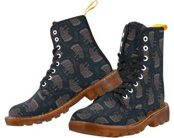 Dalek Doc Style Boots - Dalek Boots Doctor Who Boots Doc Boots Sci-Fi Boots Lace Up Boots Villain Boots Tardis Boots Doctor Who Docs