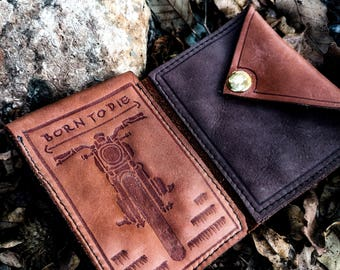 hand crafted slim leather wallet