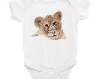 Lion Cub Baby Face Infant Bodysuit