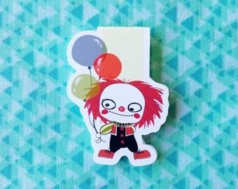 Evil Clown Magnetic Bookmark