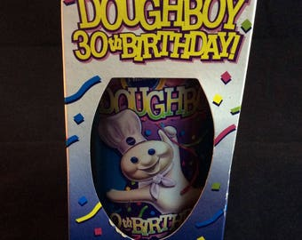 1995 Pillsbury Doughboy 30th Birthday Collectors Glass