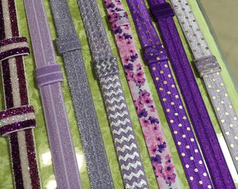 Purple Custom PLANNER BAND:Happy Planner, Erin Condren, Create 365 custom made Planner accessories, Elastic Band, Plum Paper & many more