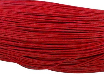 waxed cotton cord 0,7mm red 10m