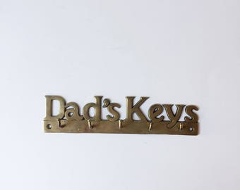 Vintage brass key hook | Dad's keys