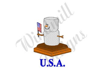 USA Smore - Machine Embroidery Design