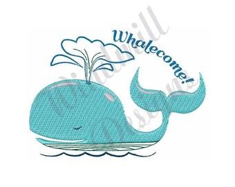 Whalecome! - Machine Embroidery Design