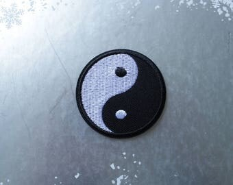 1pc Yin Yang Iron on patch Sew on patch embroidery  embroidered patch DIY