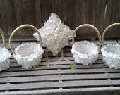 Hydrangea petals flower girl basket