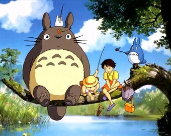 Studio Ghibli My Neighbor Totoro Poster (A0, A1, A2, A3, A4)