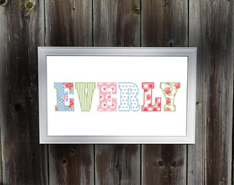 Personalized Shabby Chic Wall Art