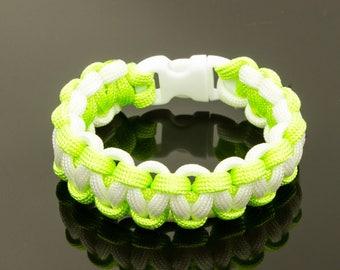 Neon white/green 550 Paracord Bracelet