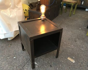 Bedside table lamp industrial style