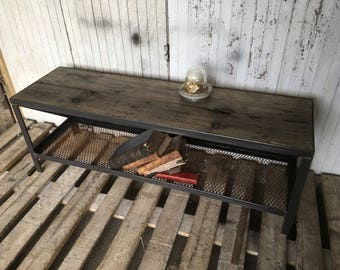 Industrial furniture tv bench
