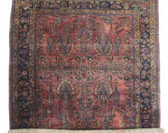Persian Hand Knotted Wool Lilihan Rug- 12′ × 20′ Pink, Blue