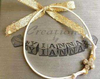 Martirika-Witness pins-Greek Baptism-Cross-Gold Cross Bracelet martirika-ONLY 40