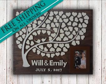 Alternative Wedding guest book wood | wood | Alternative Wedding Guest Book | wedding singing book | 3d Wood Tree Guest Book