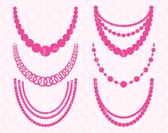 Necklaces svg Pearl necklaces svg Baby Necklace SVG Pearl Necklaces svg file Necklace SVG cut file Silhouette Studio CAMEO svg file Cricut