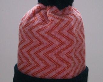 Ziggy Beanie - Pink and Orange