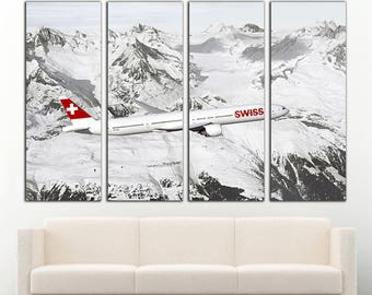 Boeing 777 Aircraft Canvas Aircraft Boeing 777 wall decor Jet Wall Art Boeing 777 canvas Airplane Wall Art Airplane Canvas Boeing 777 print