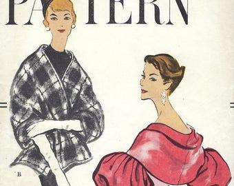 1958 Vintage VOGUE Sewing Pattern B34-36 ins CAPLETS Stole Wrap  (1855) Vogue 9428