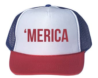 Merica Hat, Merica Snapback, Merica Snapback Hat, 4th of July Hat, 4th of July Snapback, Independence Day Snapback