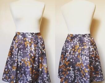 Reworked Vintage Polkadit Skater Skirt - UK Size 10/US Size 6