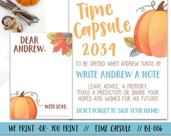 Pumpkin Time Capsule, Fall First Birthday Time Capsule, Pumpkin 1st Birthday Time Capsule, Fall Time Capsule, Time Capsule Sign