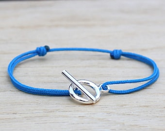 Cord choice connector PM 925 sterling silver toggle bracelet
