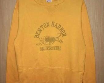 Rare!! Champion Spellout Pullover Jumper Sweatshirt