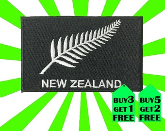 New Zealand Silver Fern iron on patch 8.0cm x5.0cm (WxH)
