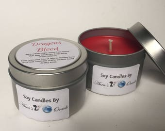 Dragons Blood 4oz Soy Candle