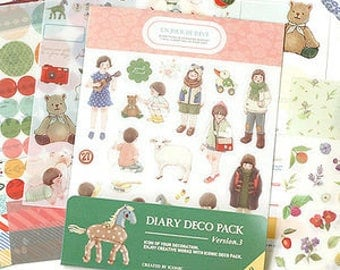 Stickers deco pack 9 sheets set diary (3)