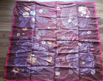 Vintage Floral Pattern Japanese Scarf
