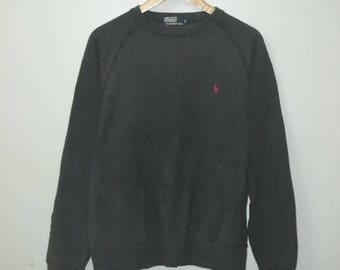 Vintage Polo by Ralph Lauren sweatshirt 90s  pony pwing stadium cookies sport 67
