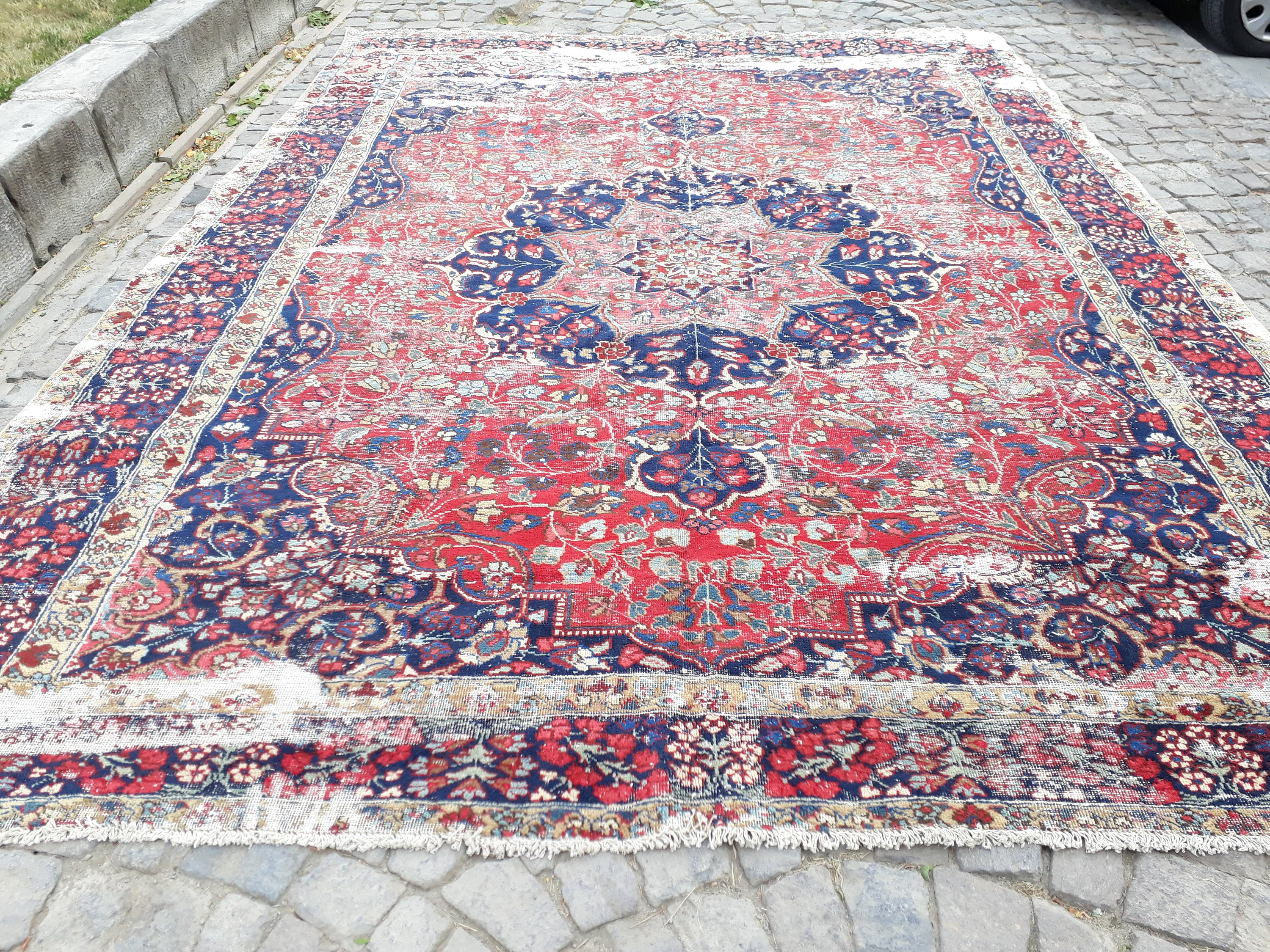 rugs c il color turkish fullxfull floor free vintage shipping muted rug oushak bohemian feet