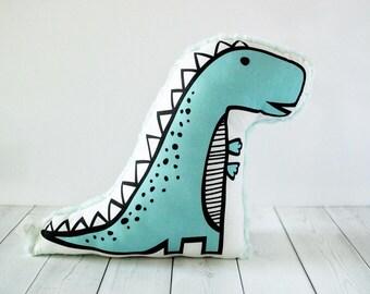 Stuffed animal - Whimsical toy - Nursery decor - Stuffed dinosaur - Gift for boy - Gift for girl - Organic stuff animal