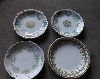 Antique Butter Pats, Lot of 4