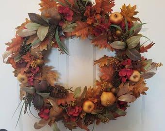 Fall wreath / autumn wreath/ door wreath/front door wreath/ housewarming wreath