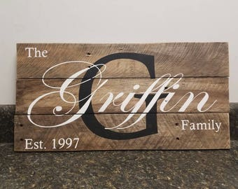 Wedding Sign, Personalized Family Name Sign, Pallet Last Name Sign,Last Name Custom Sign, Established Date Family Sign,