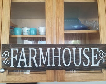 FARMHOUSE reclaimed wood plank sign can be customized just for you