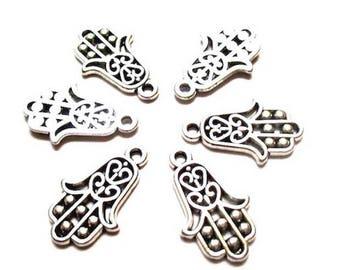 5 pendants charms hand of Fatima 13 x 25 mm