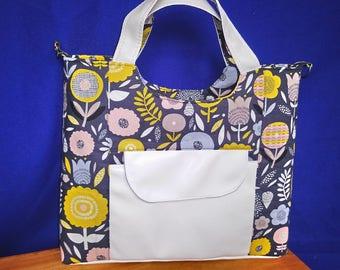 flowers shoulder handbag
