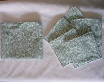 washable wipes with matching pouch