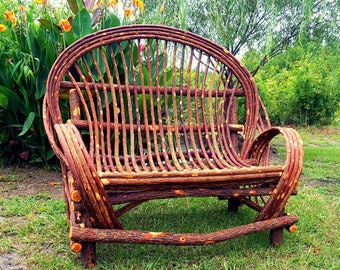 SUMMER SPECIAL *** Classic Bentwood willow loveseat *** Handmade Settee loveseat