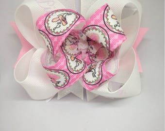 Ballet bow, pink bow, Ballerina Bow, Ballet Bow, Tutu Bow, white bow, bows for girls,Baby Hair Bows, Toddler Hair Bows, gift for girls